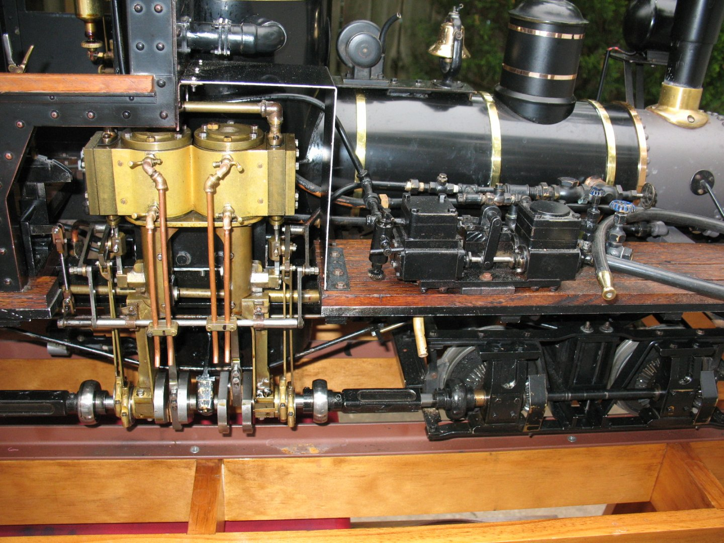Closeup of Shay engine and pump.JPG