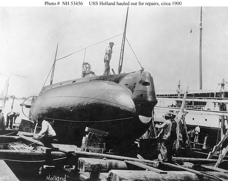 USS Holland Hauled Out For Repairs,Circa 1900.jpg